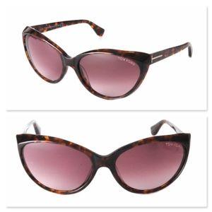 New TOM FORD Martina Havana Cat Eye Sunglasses